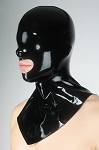 Black Latex Open Mouth Mask w/ Collar