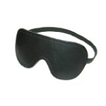 Plain Black Leather Blindfold