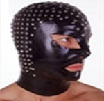 Studded PVC Hood with collar